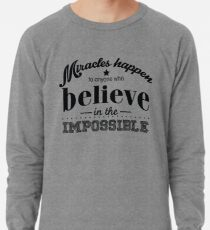 Redfool.com Miracles Happens Leichter Pullover