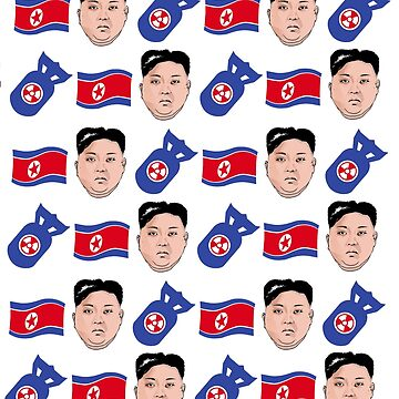 North Korean Kim Jong Un Pattern by popdesigner