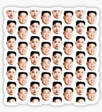 Kim Jong Un Pattern Sticker