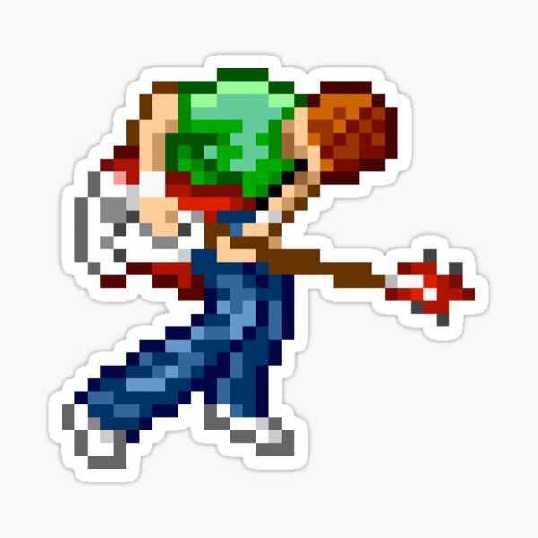 Scott Pilgrim 8-bit Pixel Art Sticker