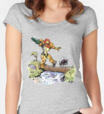 Samus and Metroid Women's Fitted Scoop T-Shirt