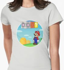 Mario & Portal Women's Fitted T-Shirt
