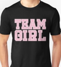 Team Girl Pink Mom Baby Shower Gender Reveal Party Cute Funny Gift Unisex T-Shirt