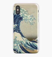 Hokusai, Great Wave off Kanagawa, Thirty-six Views of Mount Fuji, no. 21. Japan, Japanese, Wood block, print iPhone Case/Skin