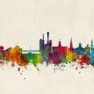 Iowa City Iowa Skyline by Michael Tompsett