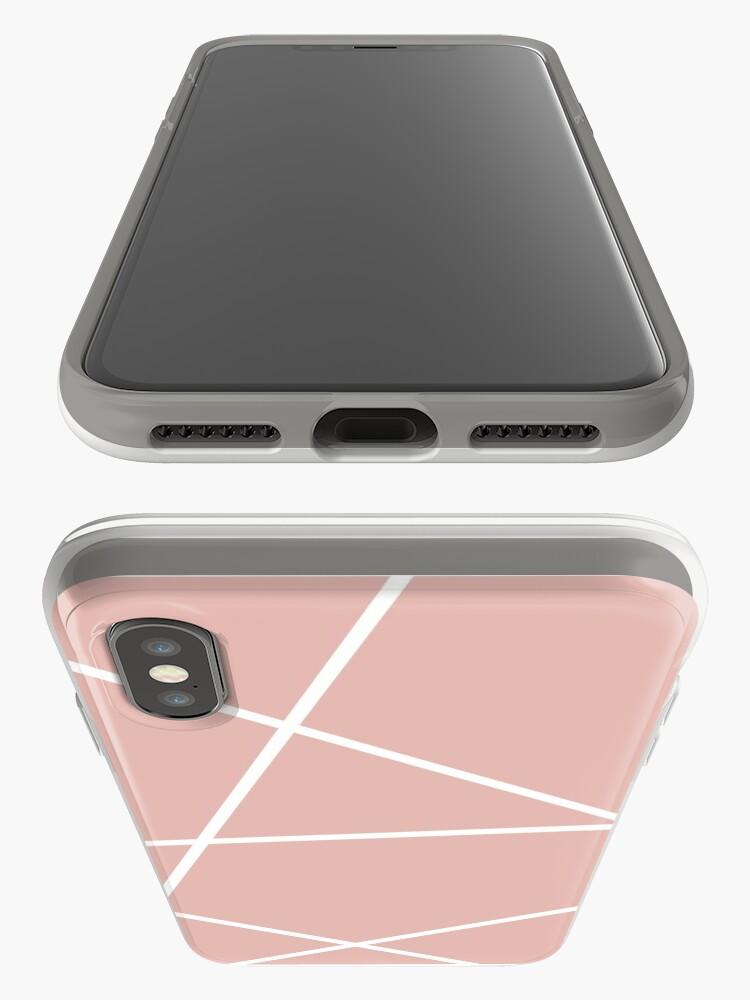 Alternative Ansicht von minimale Chic Blush rosa weiße Linien rosa geometrisches Muster iPhone-Hülle & Cover