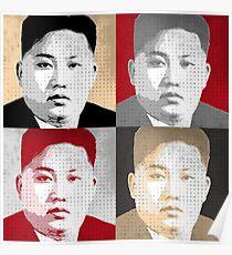 Kim Jong Un Pop Art Poster