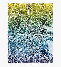 Dublin Ireland City Map Photographic Print