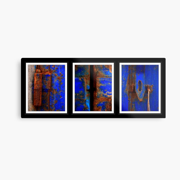 Moroccan Rust Triptych Metal Print