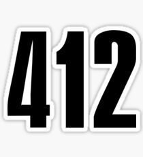 412 Pittsburg | Phone Area Code Shirts Sticker