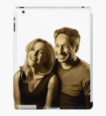 A successful old married couple - white/transparent background painting iPad Case/Skin