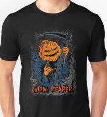Jack O Lantern Pumpkin Grim Reaper Halloween T-Shirt
