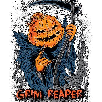 Jack O Lantern Pumpkin Grim Reaper Halloween by bstees