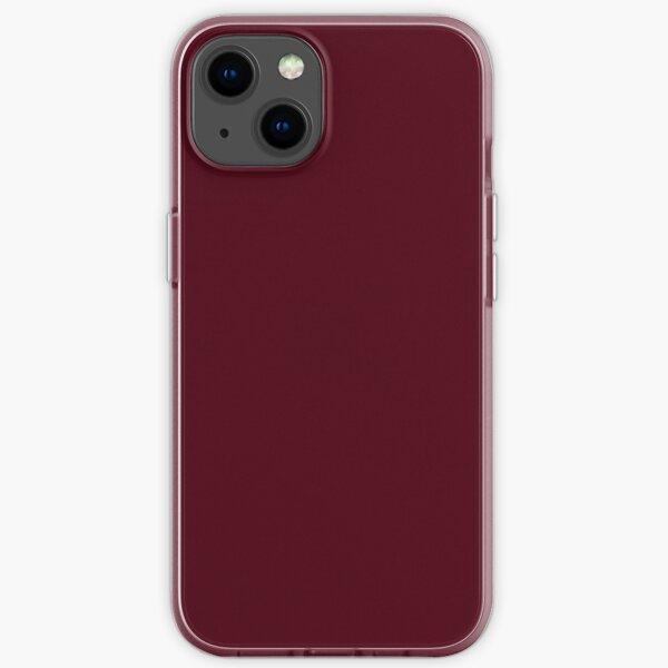 Elegant Gothic Solid Color Burgundy Red Plum  iPhone Soft Case