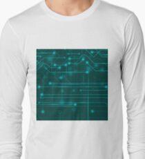 Modern Computer Technology  Background. Circuit Board Pattern. High Tech Printed Circuit Board T-Shirt