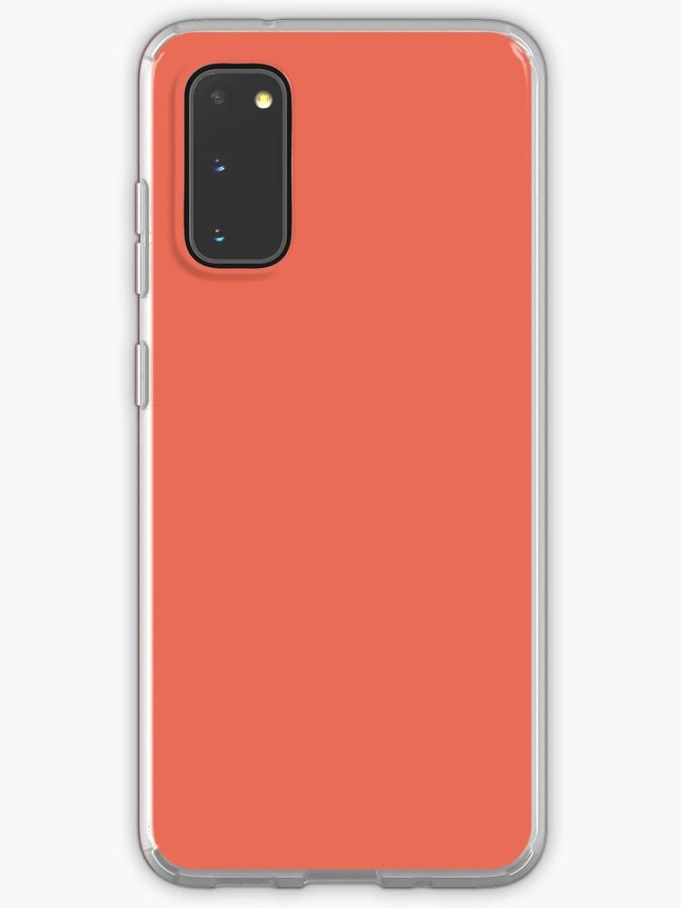 Girly chic tendance couleur d'été orange pêche rose corail | Coque et skin adhésive Samsung Galaxy
