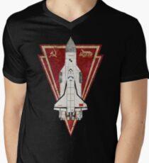 CCCP Energiya Buran V01 Men's V-Neck T-Shirt
