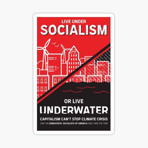 Vivir bajo el socialismo o vivir bajo el agua Pegatina