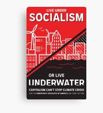Live Under Socialism or Live Underwater Canvas Print