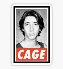 Obey Mr Cage Sticker