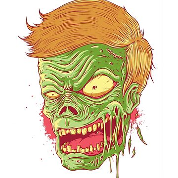 Zombie Face Falling Off by bstees