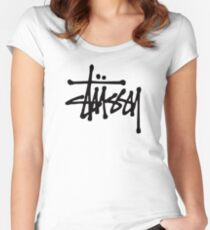 Stussy (white edition) Women's Fitted Scoop T-Shirt