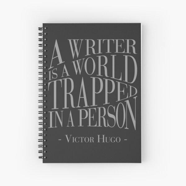 A Writer is a World Spiral Notebook
