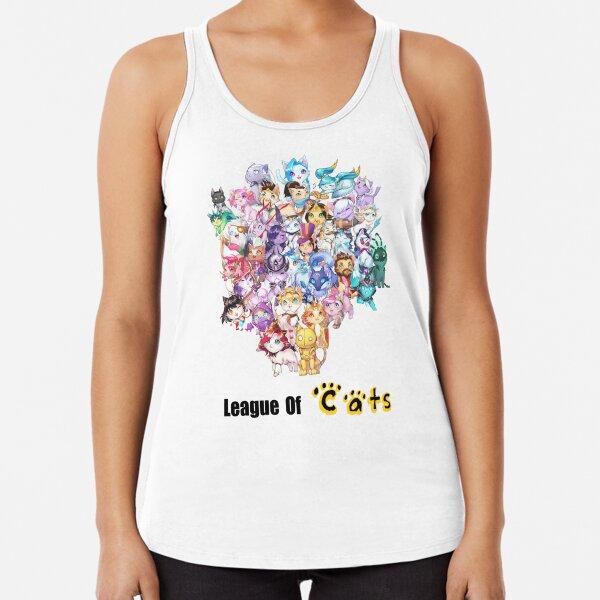 League of Legends- versión gatos Camiseta con espalda nadadora