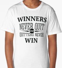 Redfool.com Winners Never Quit Long T-Shirt