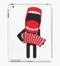 loud singing accordion player iPad Case/Skin