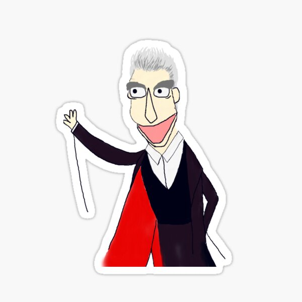 The Twelfth Doctor Muppet Style Sticker