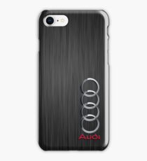 Audi logo on a field of steel iPhone Case/Skin