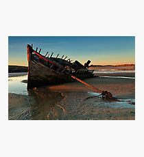 Ship Wreck In Morning Light Photographic Print