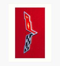 Corvette Flag Art Print
