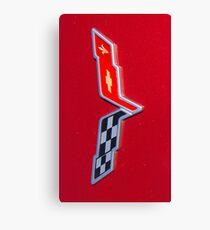 Corvette Flag Canvas Print
