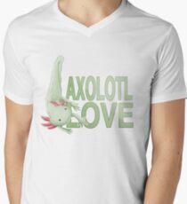 Axolotl Love- Green Men's V-Neck T-Shirt