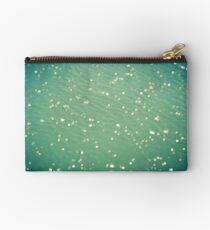 Green ocean blur Zipper Pouch