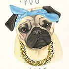 «Vida Pug» de PaperTigressArt