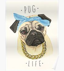 Mops Leben Poster