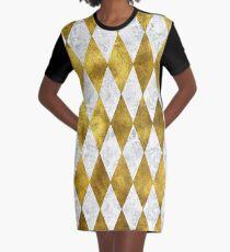 Diamonds are gold.  Graphic T-Shirt Dress