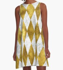 Diamonds are gold.  A-Line Dress