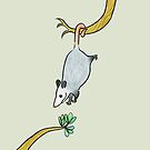 Opossum with New Leaves  by zoel