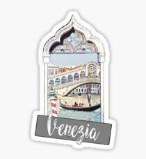 Venice Venezia city Italia sticker poster print Sticker
