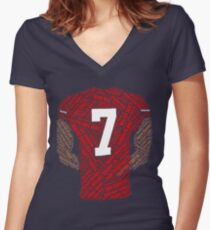 Colin Kaepernick: Carrying the Weight Women's Fitted V-Neck T-Shirt