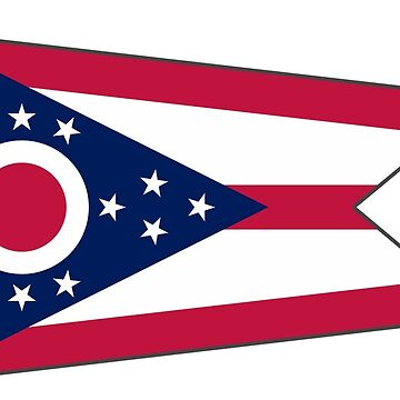 Ohio State Flag Stickers by mpodger