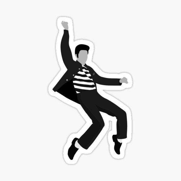 Elvis Jailhouse Rock Pose Sticker