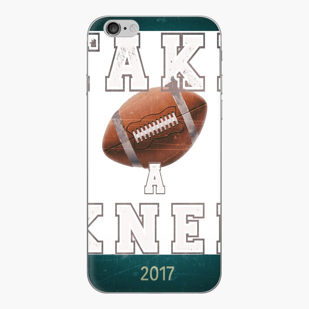 Protesta del himno de Take a Knee 2017 Vinilo para iPhone