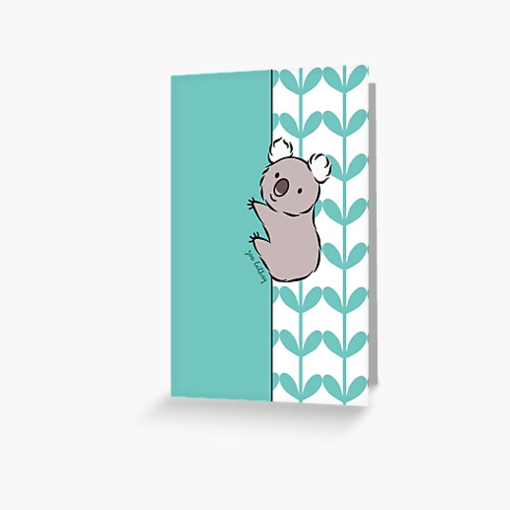 Aferrarse a Koala Tarjetas de felicitación