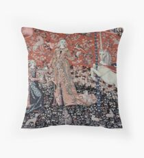 Lady & the Unicorn Tapestry Throw Pillow
