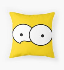 Minimalist Simpsons Throw Pillow